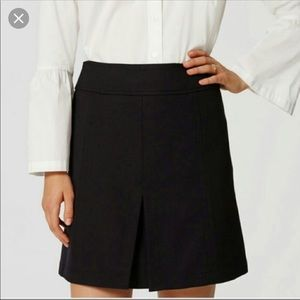 LOFT Black Skirt with Front Pleat